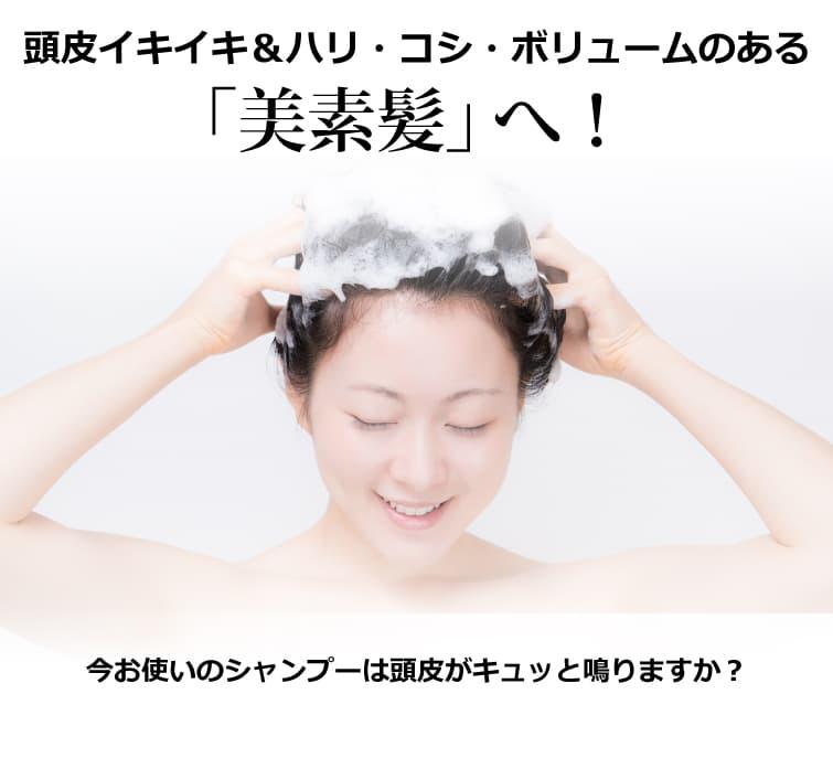 魂のハピースカルプハーブシャンプー! 頭皮イキイキ&ハリ・コシ・ボリュームのある「美素髪」へ!
