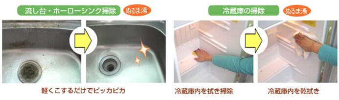 流し台・ホーローシンク掃除 冷蔵庫の掃除