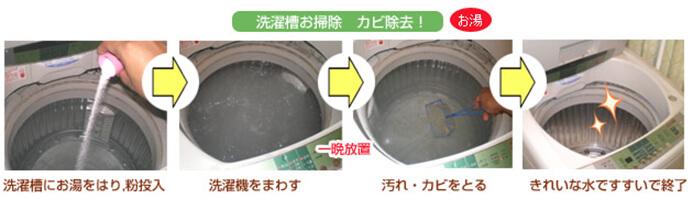 洗濯層の掃除 カビ除去