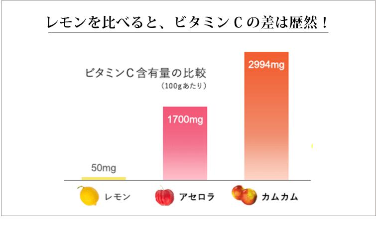 ビタミンC含有量の比較