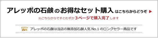 アレッポの石鹸ノーマルとアレッポの石鹸セキストラ40のセット商品
