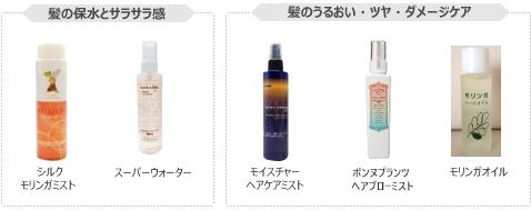 髪の保水をサラサラ感&髪のうるおい・ツヤ・ダメージケアの商品紹介