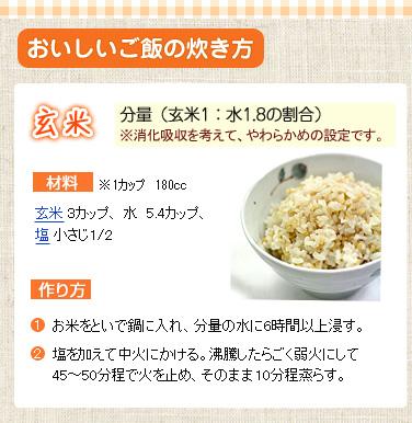 おいしい玄米炊き方