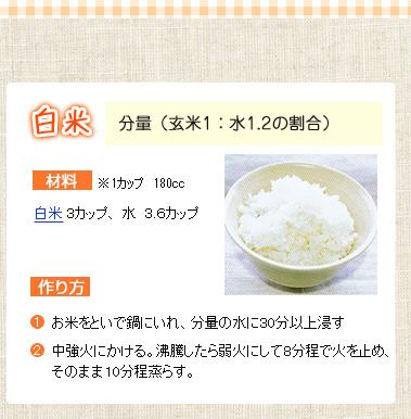 おいしい白米炊き方