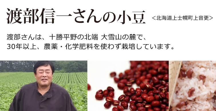 渡部さんは、 十勝平野の北端、大雪山の麓で、 30年以上、農薬・化学肥料を 使わず栽培しています