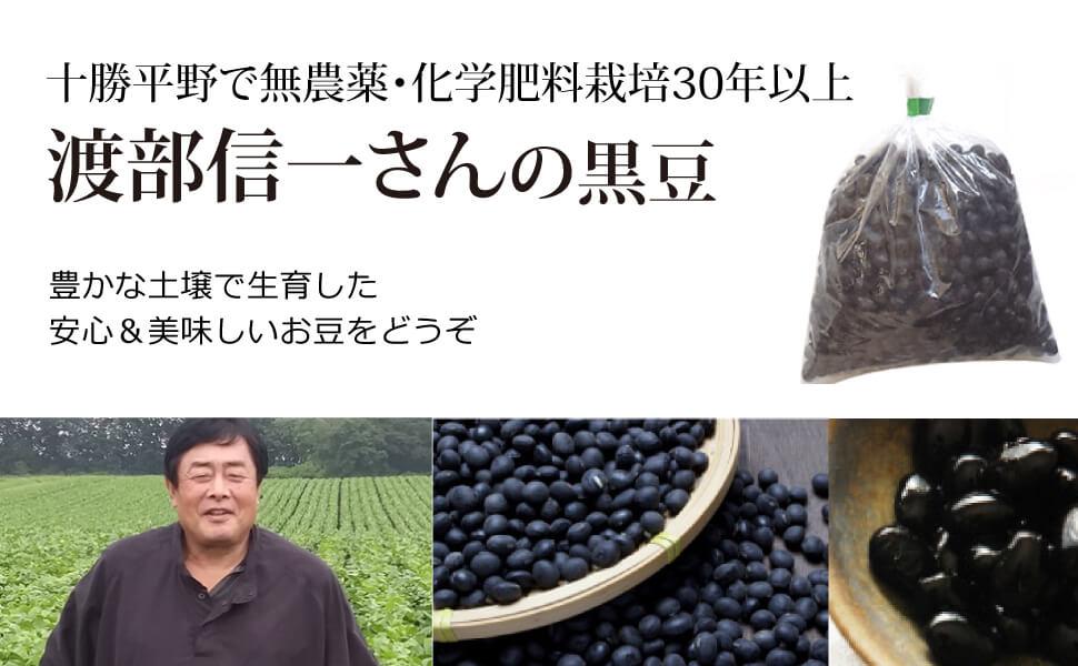 十勝平野で無農薬・無化学肥料栽培30年以上 渡部信一さんの小豆(1kg)